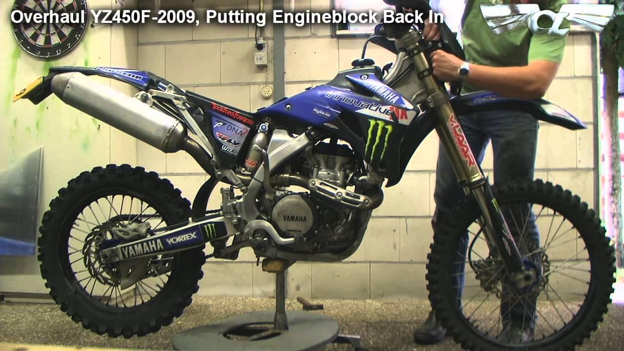 Overhaul Yamaha YZ450f 2009 - YouTube