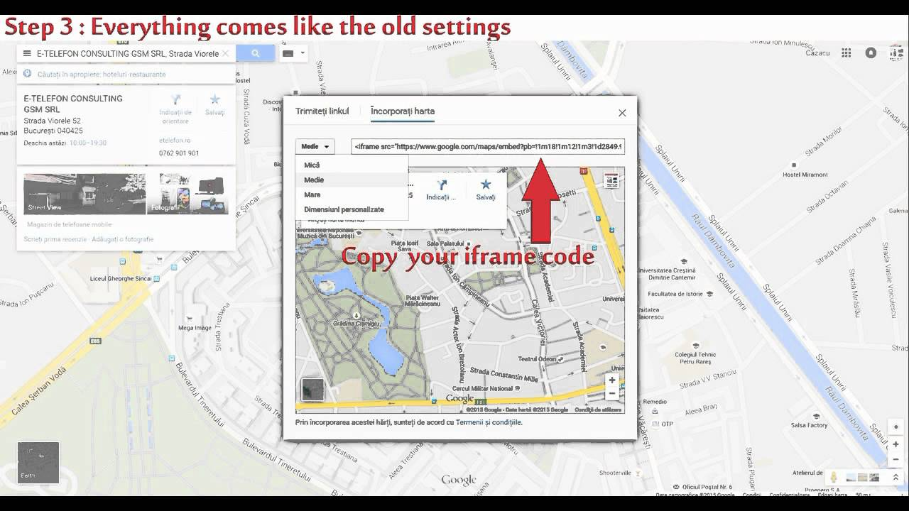 How To Add Find Google Maps Embed Iframe Setting On Google Maps