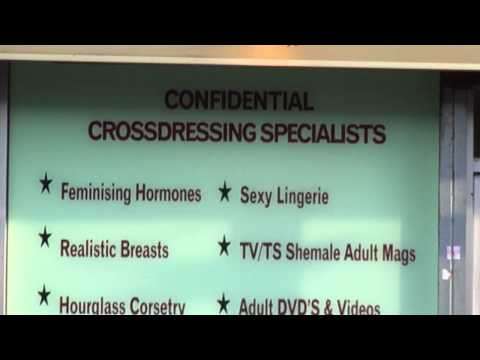 Transexual, Transgender, Transvestite & Crossdressing Specialist Shop On Eversholt Street, Euston, London, UK; 14th December 2011