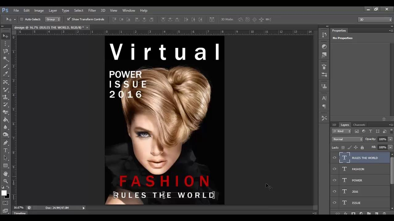 how to create a magazine layout in photoshop