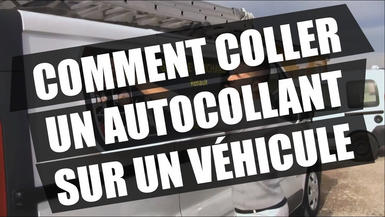 Comment coller un autocollant sur un v hicule stickerpro for Coller un retroviseur interieur