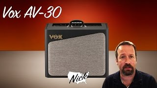 Vox AV 30 Hybrid Tube Amp - The unModeler. Analog with a twist!