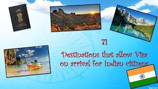 Destinations that allow Visa on arrival for Indian citizens