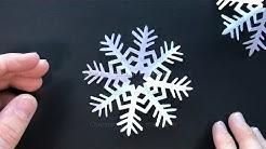 Basteln Weihnachten mit Papier: DIY Schneeflocken ❄ Weihnachtsdeko selber machen - Bastelideen