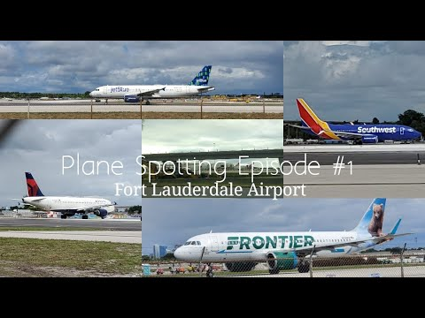 [4k]-plane-spotting-at-fort-lauderdale-hollywood-airport-(fll)-|-noon-departures/arrivals-|-10/13/19