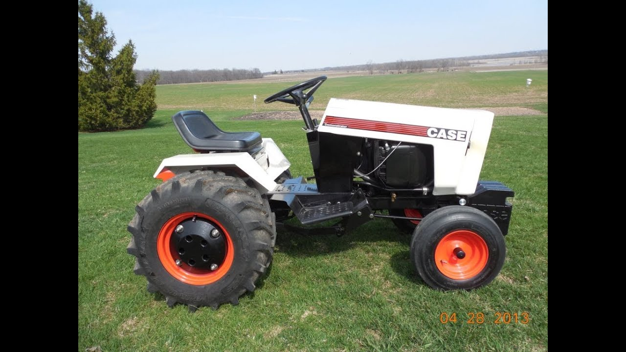 CASE White Knight Demonstrator 328 Garden Tractor YouTube
