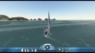 Sail simulator 2010 - gameplay, sea, wave, ship