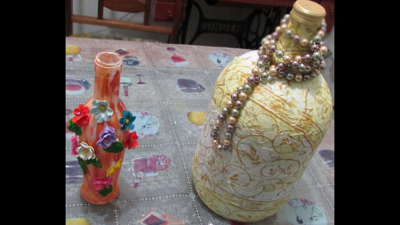Armario Farmaceutico ~ Artesanato Como fazer decorações com garrafas de vidro