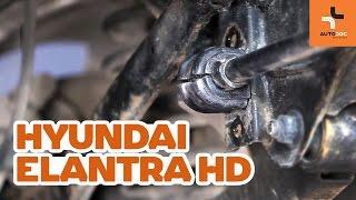 Cómo cambiar los silentblock barra estabilizadora trasero en HYUNDAI ELANTRA HD