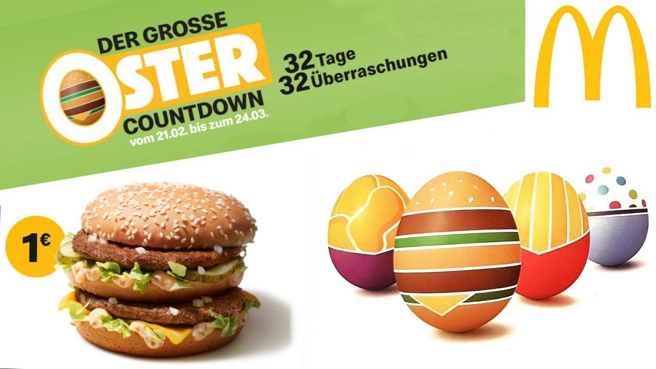 1 Big Mac 32 Tage Oster Countdown Angebots Kalender Bei