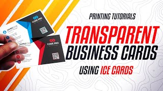 How to make transparent calling card or business card