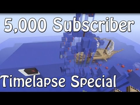5,000 Subscribers Timelapse Special - Giant Squid Attacking Ship