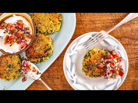 How To Make Cauliflower, Spinach + Chickpea Patties