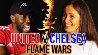 MANCHESTER UNITED V CHELSEA FLAME WARS 🔥  CHEEKYSPORT DAVE V SOPHIE ROSE (CFC FAN TV)   SPORF FC