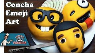 Concha Bread - Emoji Art