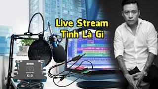 Tình Là Gì - Sound Card XOX K10, Micro Thu Âm BM 800, Dây Live Stream, Kẹp Mic NB 35