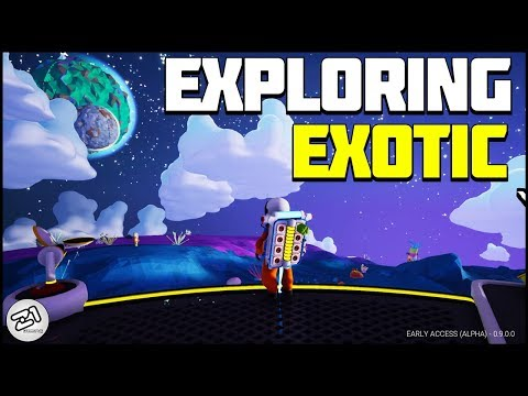 Exploring Exotic Planet and Seat Glitch ! Astroneer Update 9.0 E8 | Z1 Gaming