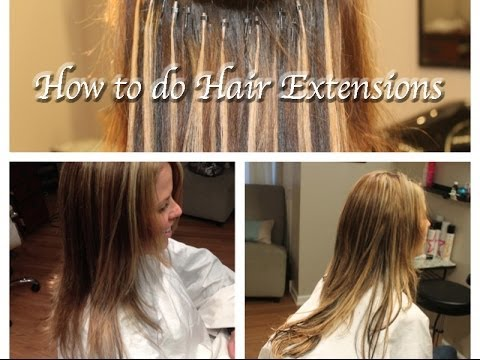 how to do hair extensions i tips stand by strand micro beads part 1 youtube