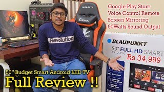 """Blaupunkt 50"""" Budget Smart Android LED TV In Depth Review..."""