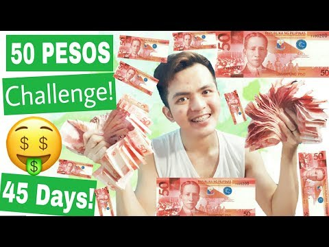 50 Pesos IPON CHALLENGE! | Paano Mag ipon in just 45 Days! 👍💰