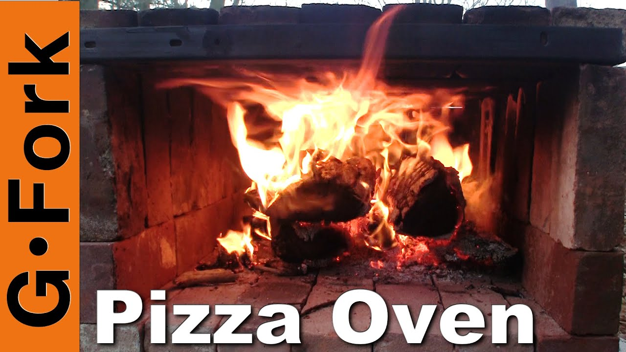 simple wood fired brick pizza oven gardenfork youtube