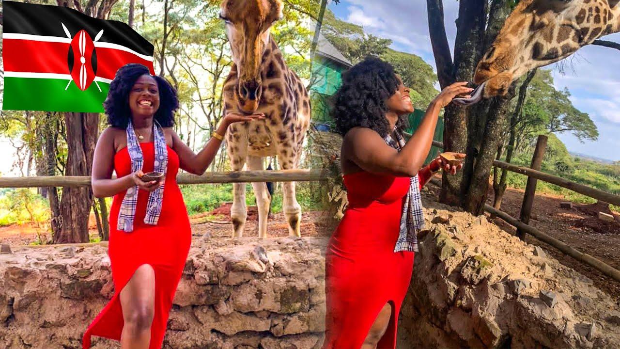 Things To Do In Nairobi Kenya   Giraffe Center Travel Vlog