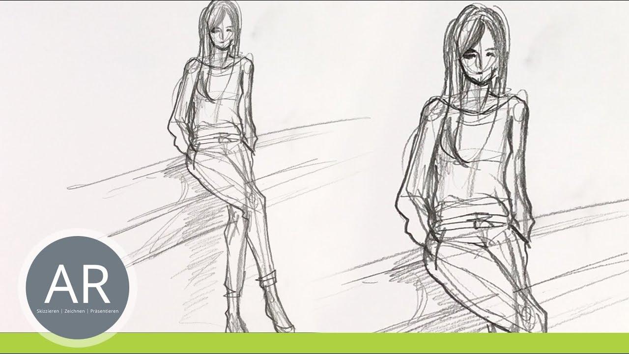 Figuren Zeichnen Menschen Zeichnen Figurine Zeichnen Mappenvorbereitungskurs Mode Design Youtube