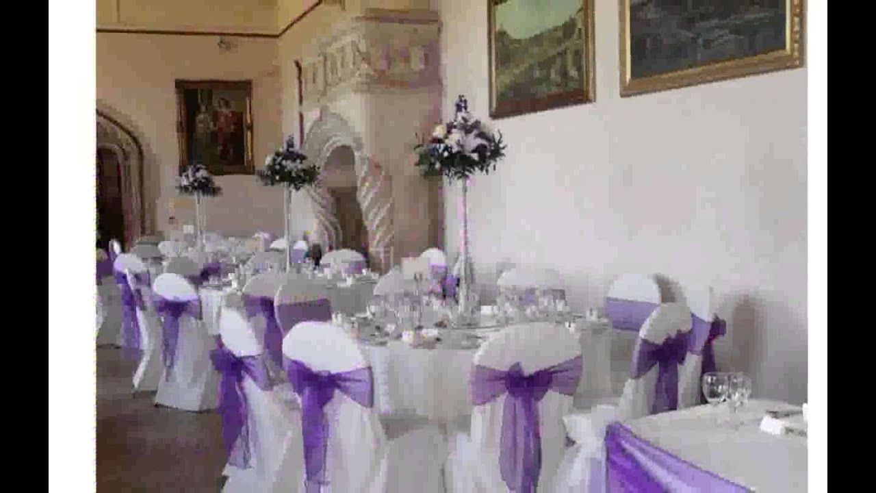 Wedding reception decorations pictures youtube for Decorations for weddings at home