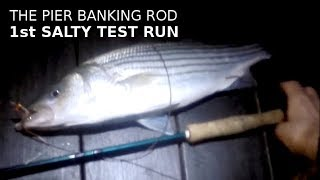 Fishing with The PIER BANKING ROD - First SALTY Test Run - A SUCCESS!