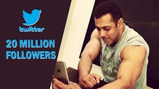 Salman Khan RULES Social Media - 20 M Followers On Twitter