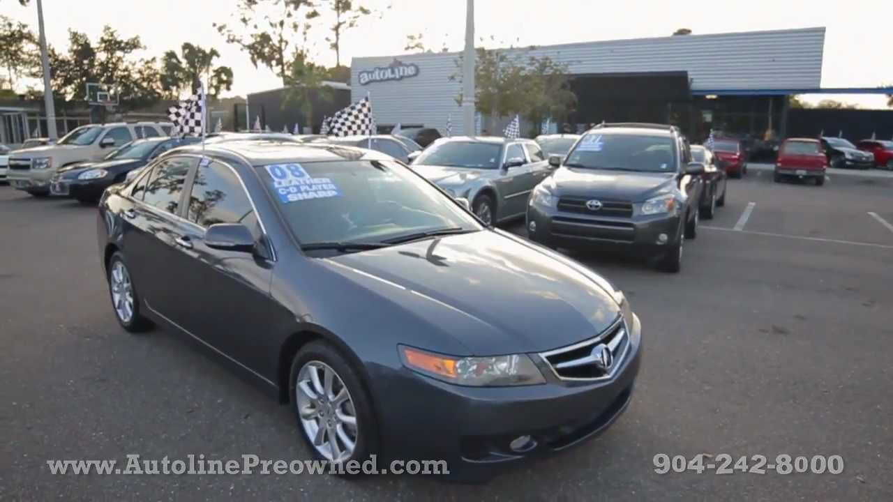 Autoline s 2008 acura tsx walk around review test drive
