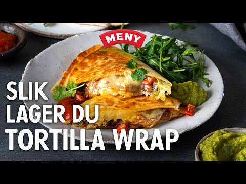 Slik lager du tortilla wrap