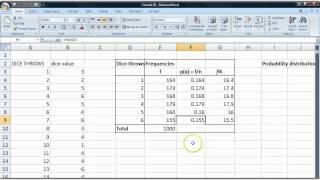 Basic statistics tutorial 32 Simulating dice throws