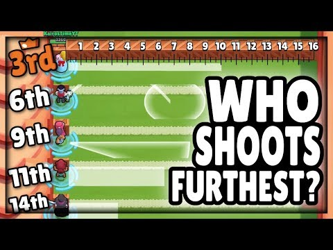 Brawl Stars OLYMPICS! | Which Attack Shoots Furthest?! | Range Comparison Guide