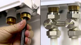 Installation guide - Danfoss Sensor and H-piece: radiators with bottom connection