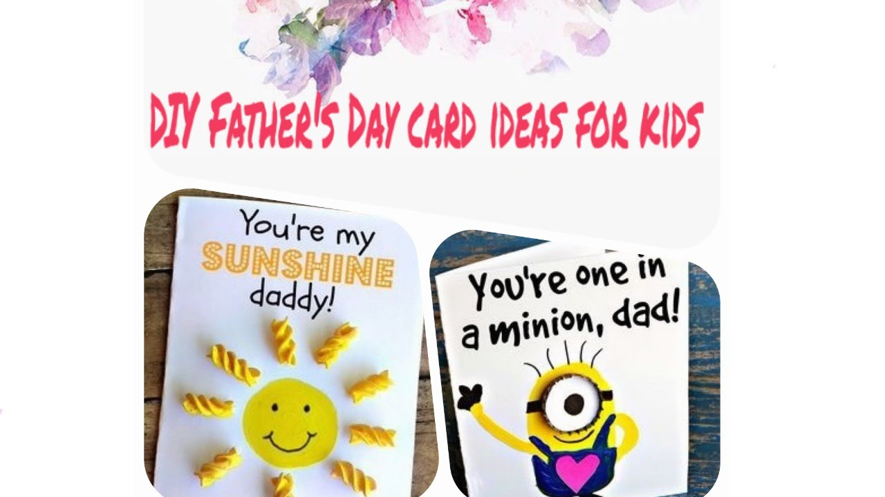 Ten easy n cute DIY cards for Father\'s Day ideas for kids - DIY ...
