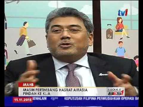 MAHB - MASIH PERTIMBANG HASRAT AIRASIA PINDAH KE KLIA [11 NOV 2016]