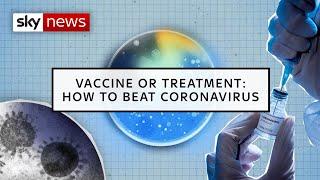 Vaccine or treatment: How to beat coronavirus