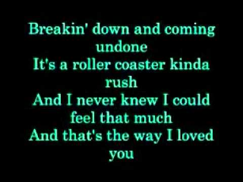 Taylor Swift Thats the way I loved you with lyrics