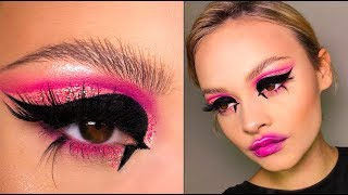 DRAMATIC WING/PINK LOOK! | Lucy Garland