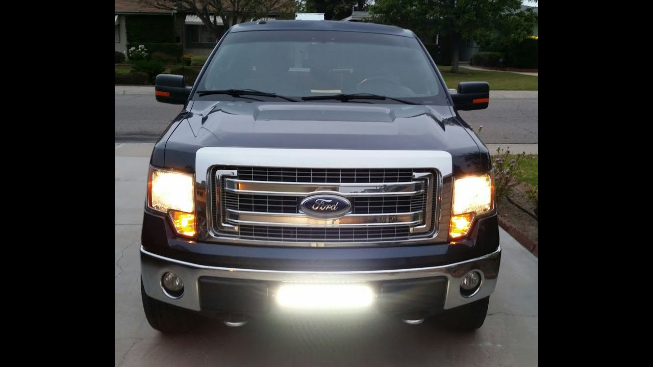 Ijdmtoy 2009 2014 ford f 150 lower bumper led light bar system demo ijdmtoy 2009 2014 ford f 150 lower bumper led light bar system demo youtube aloadofball Choice Image