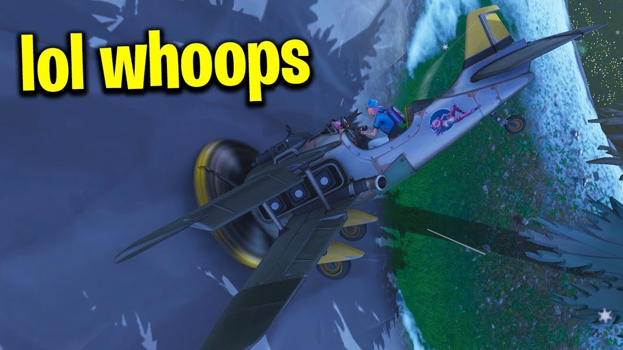 I Am The Best Pilot In Fortnite New Season 7 Plane Gameplay Youtube