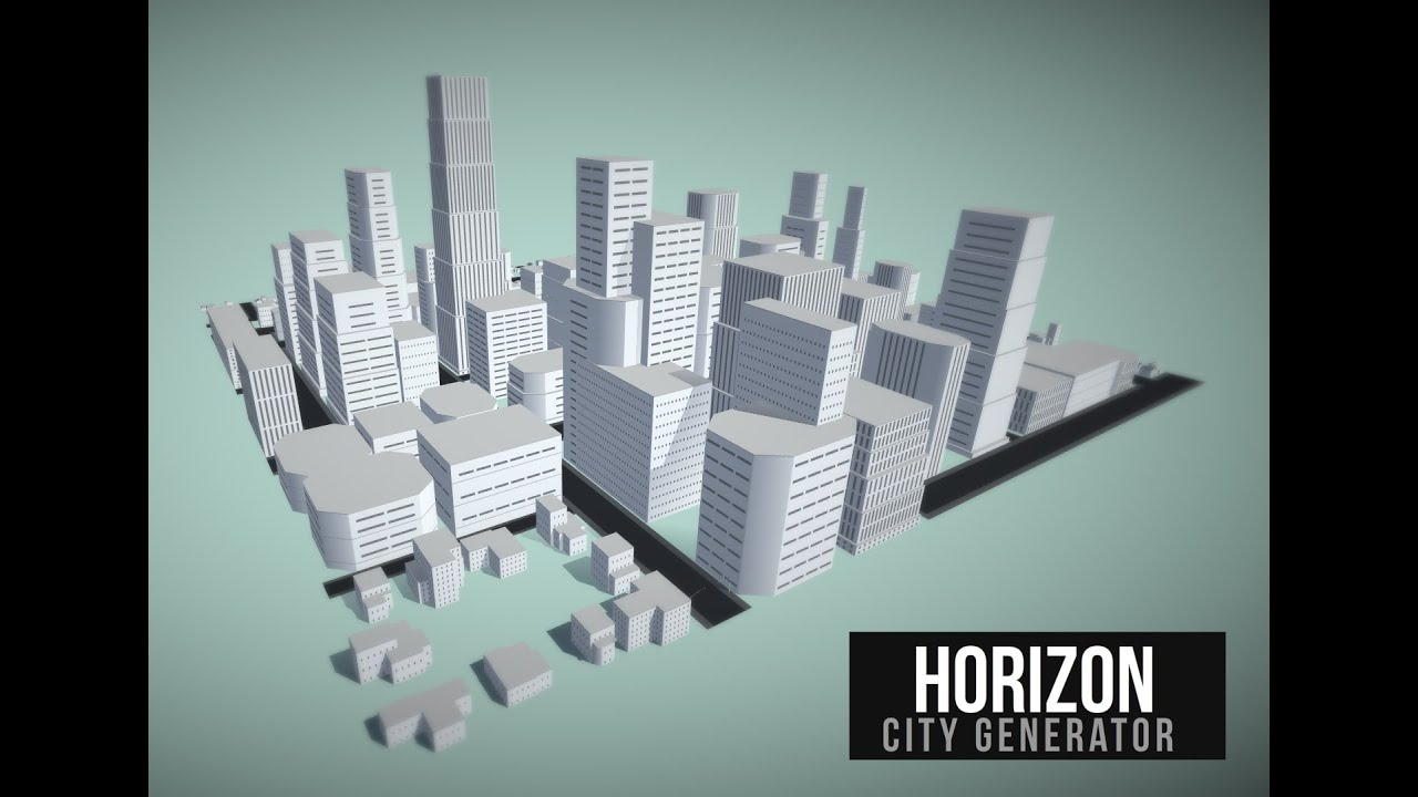 Unity 5 Interactive Procedural City Generator