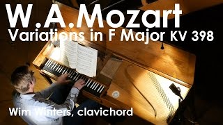 MOZART: Variations F Major, KV 398 :: Wim Winters, clavichord