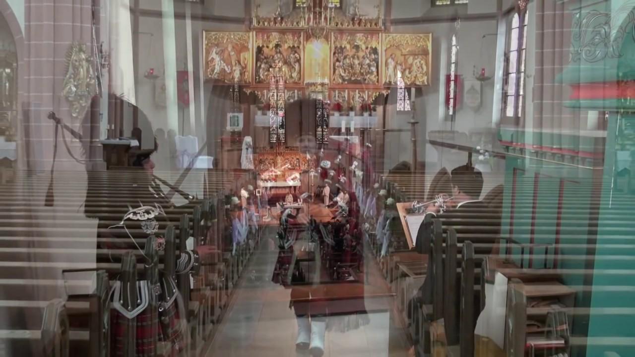 Hochzeit Hausach Highland Cathedral mit DudelsackTrompete
