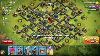 TH 10 v TH 10 Miner 3 Star Attack Strategy | Level 3 Miners OP at TH 10 | Clash of Clans|Classic