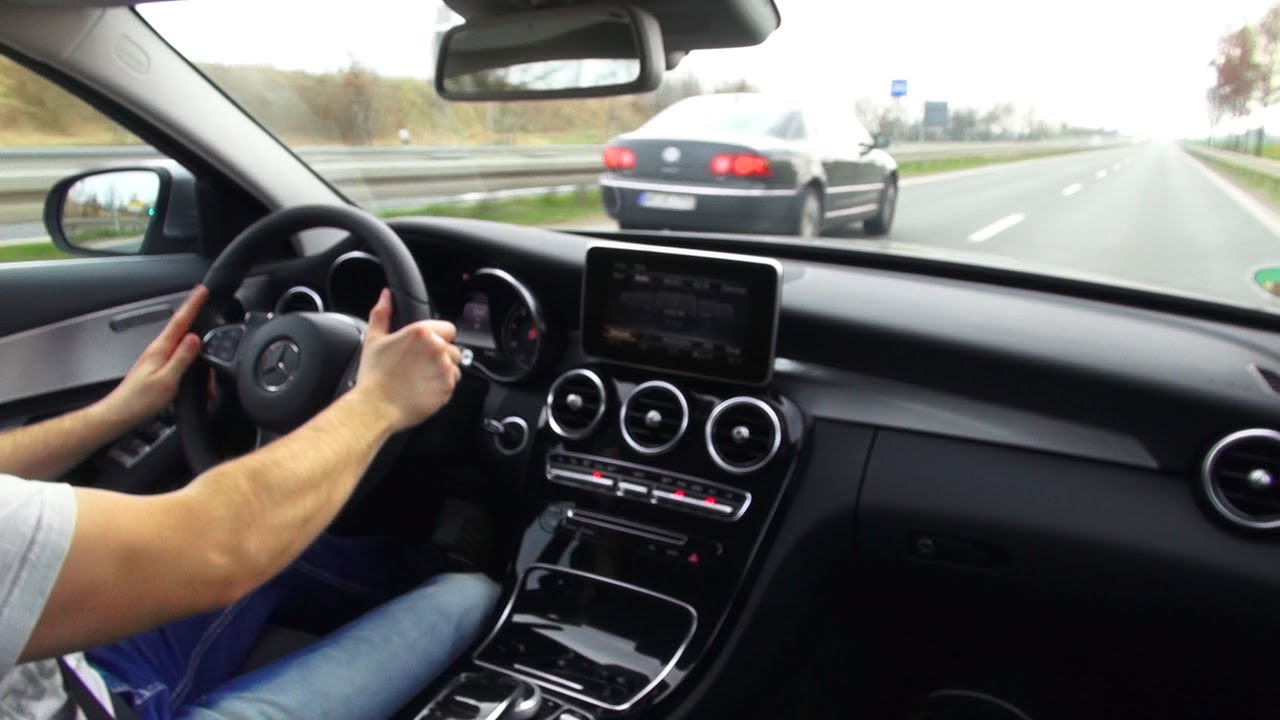 Mercedes C220 Cdi Bluetec W205 Onboard Autobahn