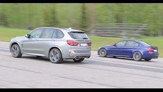 F85 BMW X5M 575 HP vs BMW M3 E90 DKG