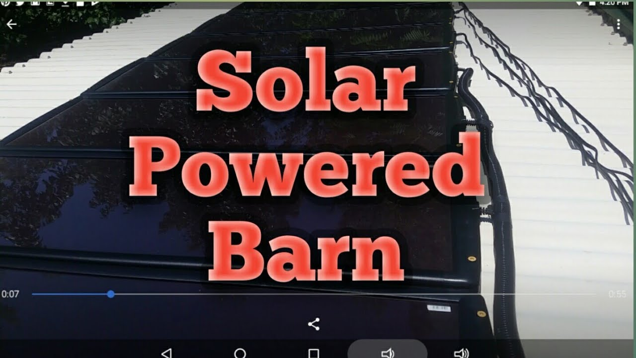 solar powered barn - harbor freight thunderbolt magnum solar kit