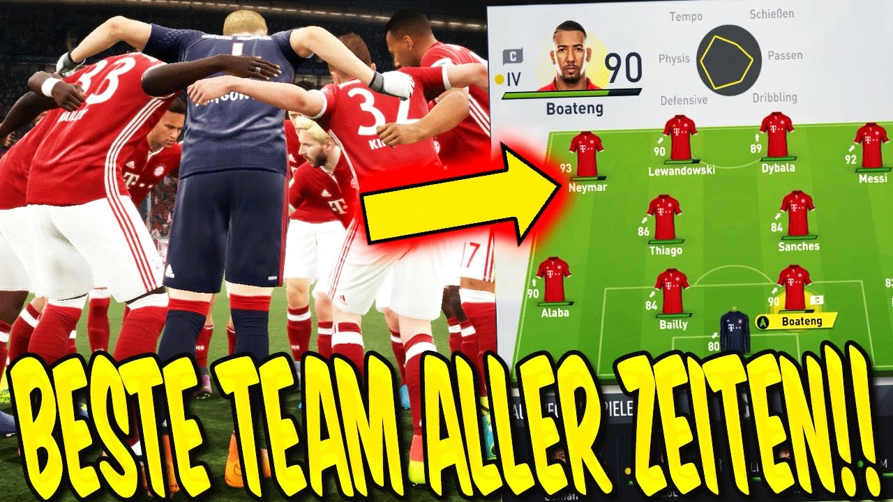fifa 17 karrieremodus das beste team aller zeiten gameplay bayern karriere deutsch. Black Bedroom Furniture Sets. Home Design Ideas